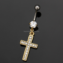High quality 316L stainless steel nickel free belly button ring