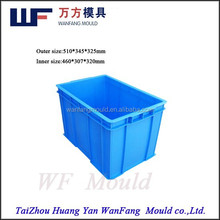 plastic aquatic product crate mould/pp plastic seafood turnover box mould