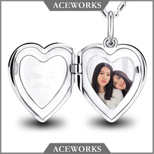 2018 Sterling Silver Jewellery Custom Made Heart Pendant Photo Locket