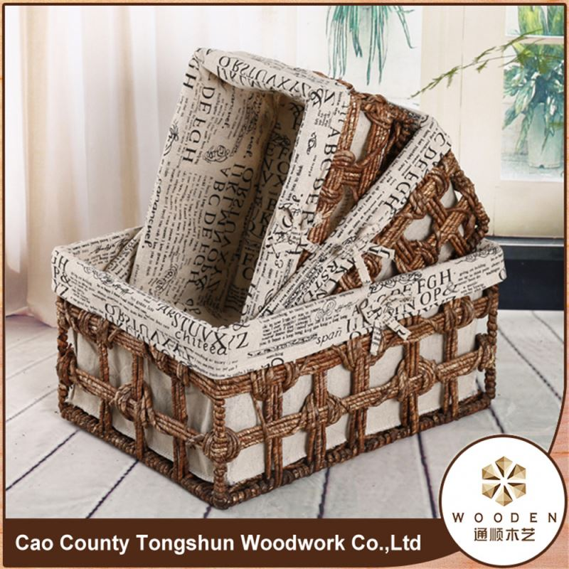 Natural Large Wheat Straw Storage Baskets And Trays