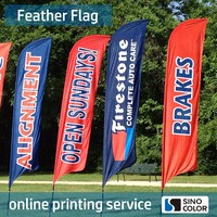 Custom High Quality Polyester Advertising Flag For Any Size