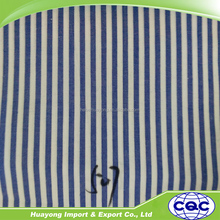cotton material yarn dyed stripe fabric in blue and white