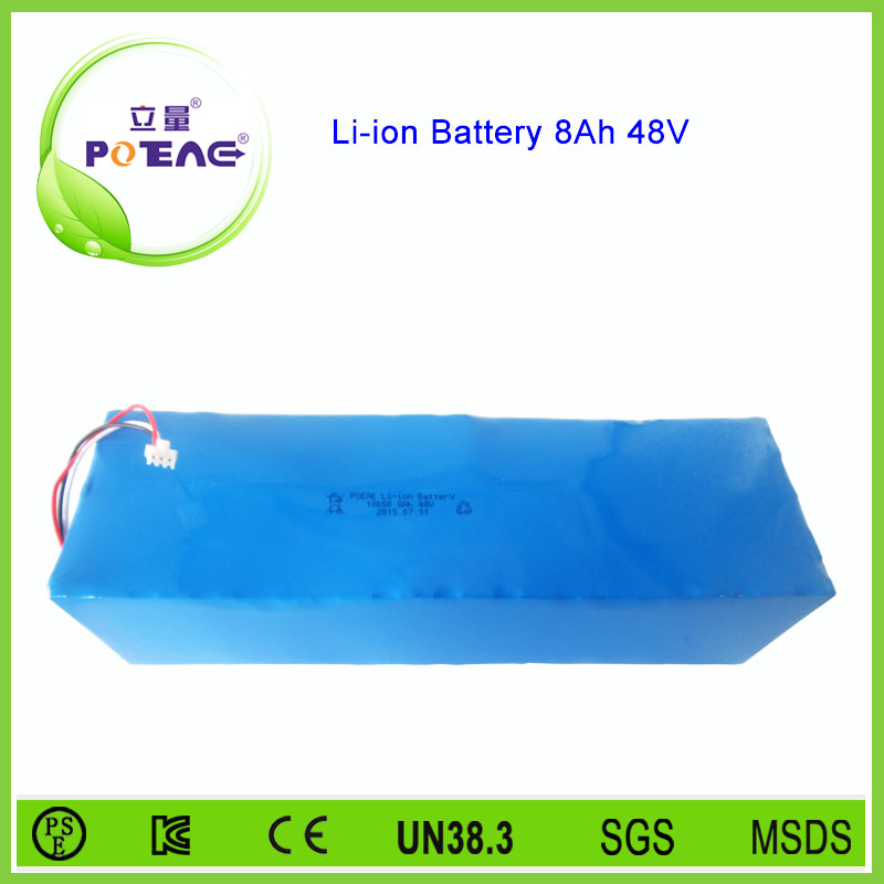 15C High discharge rate 8000mah 48v lithium ion battery for solar power system/e-bike