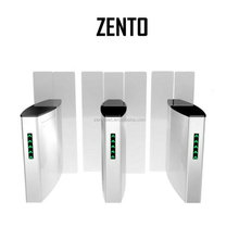 ZT access control glass door High speed automatic full height security sliding gate