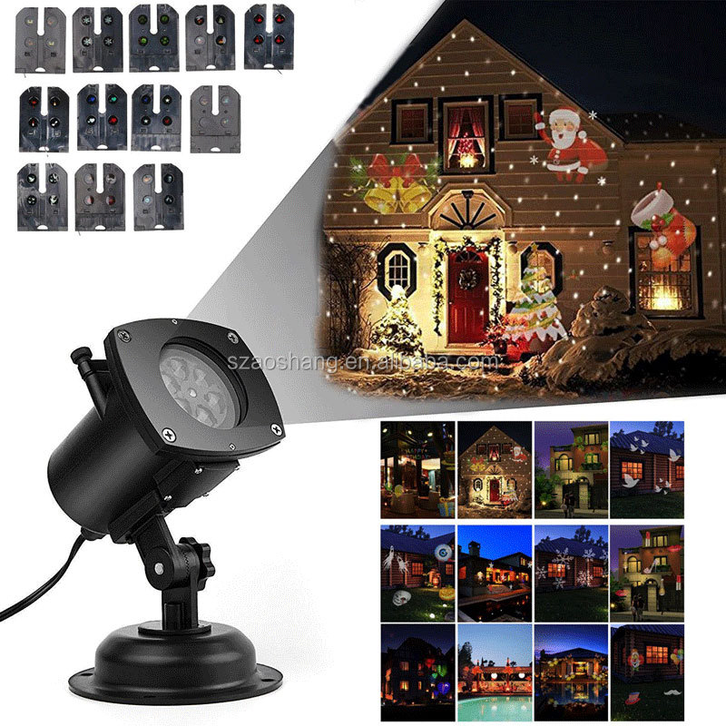 Landscape projector lights 12 Pattern Gobos Garden Lamp Lighting Waterproof Sparkling Landscape Projection Light