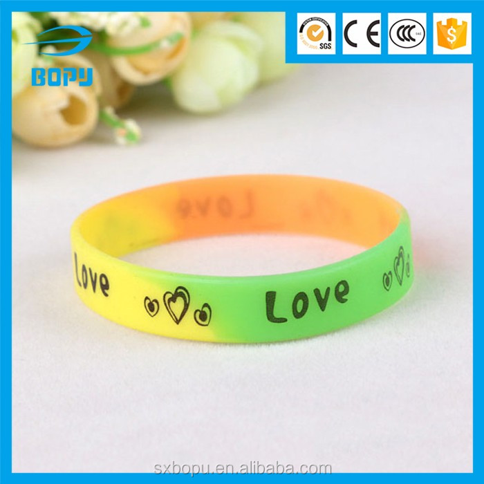 promotional gift eco-friendly elastic charm bracelet