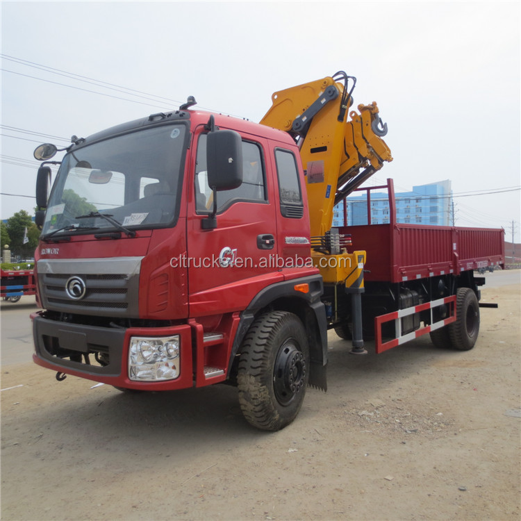 Customized unique 4x2 truck with 16 ton lifting crane