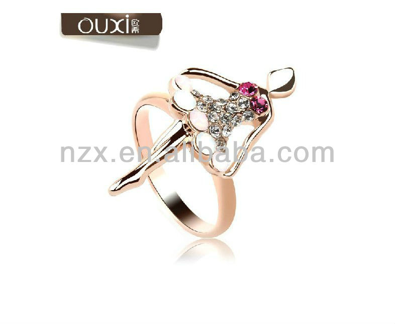 2013 hot sales crystal rings jewellery made with Austrian crystals 40062