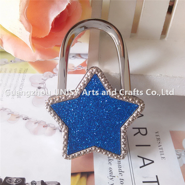 Colourfull Star shape bag holder star shape handbag hanger/Beautifull women bag hanger gift wholesale