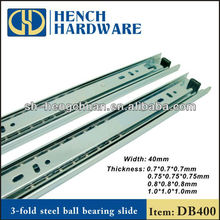 3 Fold Ball Bearing furniture parts drawer slides