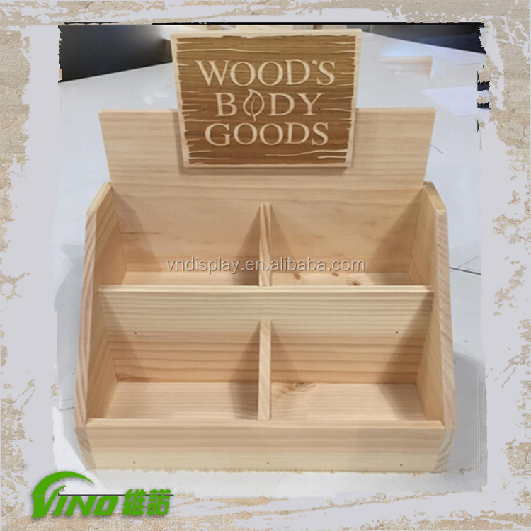 Popular Wooden Counter Display, Wood Counter Stand, unique Counter Display , custom box , essential oil wood box