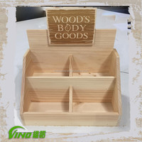 Popular Wooden Counter Display Wood Counter