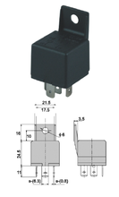 12V 40A automotive (car) relay black plastic bracket,4 pins,REF NO. BOSCH 0332019110
