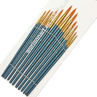 12pcs acrylic art paint brush and watercolor brush set nylon hair round shape wooden handle for artist brush supplies painting