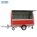 Manufacturer in China mobile street food cart snack food trailer price