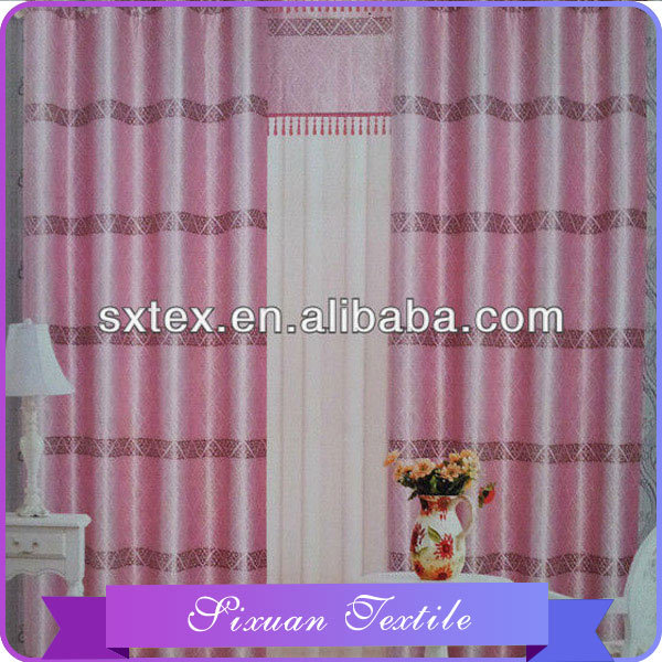 2016 Newest 10 years experience diamond check curtain