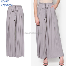 Islamic Clothing Palazzo Pants for Dubai Arabic muslim women Loose Linen Wide Leg Pants ladies plus size linen Pants