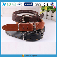 LF Wholesale High Quality Luxury Rolled Leather Collar Pet Products