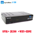 2017 New promotion satellite receiver Jynxbox V30 with USB wifi + 8PSK+JB200+newcam/cccam + diseqc 4*1 swicth for north America