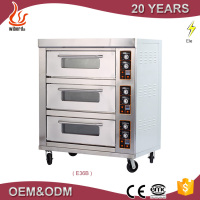 Professional 3 deck 6 trays baking oven machine electric industrial oven for cakes
