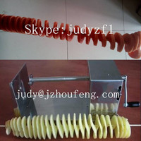 hand spiral potato and sausage cutter