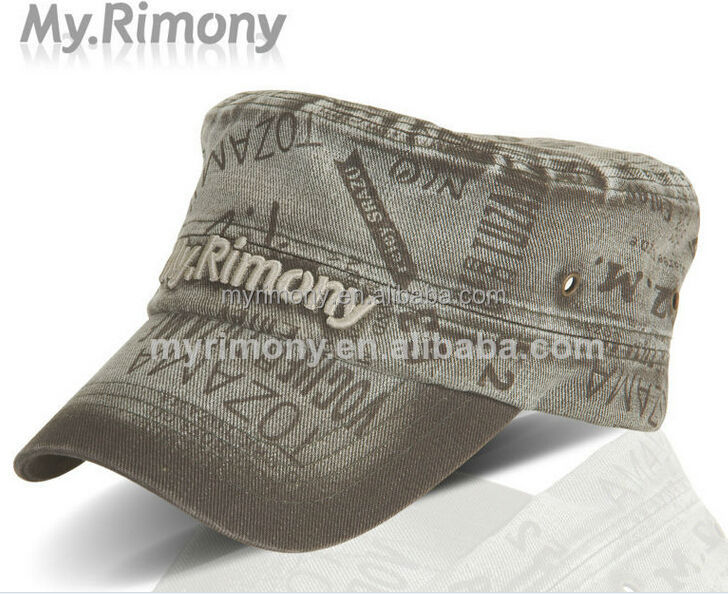 3D embroidery military cap German military caps army hats