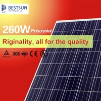 Poly solar panel 135W260Wwith 156*156 solar cell for solar energy system home/commercial use covering TUV, IEC, UL, MCS, CE, CSA