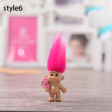 8pcs/lot Colorful Hair Troll Doll Family Members Daddy Mummy Baby Boy Girl Toy Gifts Happy Love Family