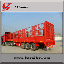 2-axle 3-axle flatbed fence semi trailer for vegetable cargo transportation
