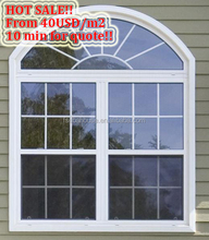 aluminum window with grill design CE approved awning windows arch window design