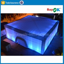 party event used inflatable tent with led light large inflatable cube tent china