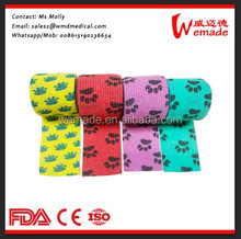 Pet pattern Printed Printing Medical Cohesive Wrap Bandage(OEM Production CE/FDA/ISO Approved)