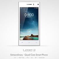 4.5inch Leagoo Lead 3 3G Smartphone Android 4.4 MTK6582 Quad Core 512 RAM 4GB ROM GPS Bluetooth WIFI Smart Mobile Phone