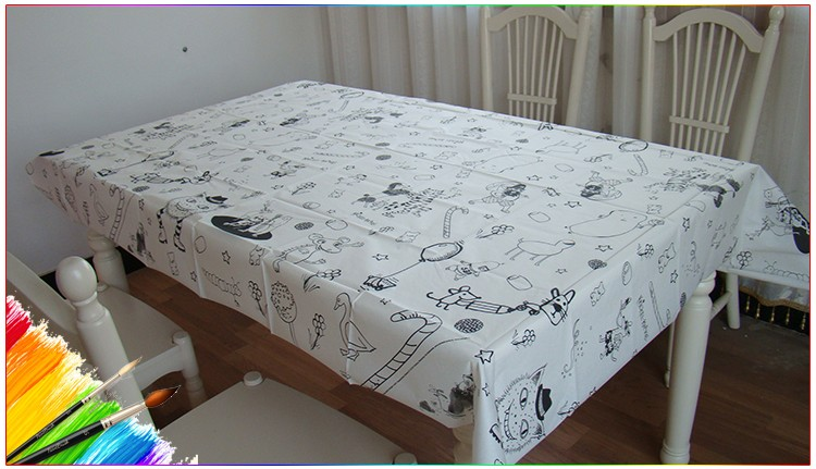 Kids Drawing Paper Table Cloth As A Christmas Gift ,Table Cloth