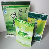 Customized stand up aluminium tea packaging bag packing pouch with zipper
