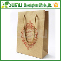 Customized luxury shopping lovely kids decorate gift paper bag