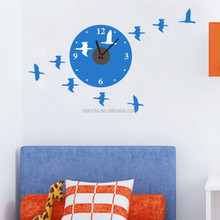 100*60cm wild goose wall clock sticker for bedroom living room eco-friendly vinyl wall decals diy modern home wall pictures
