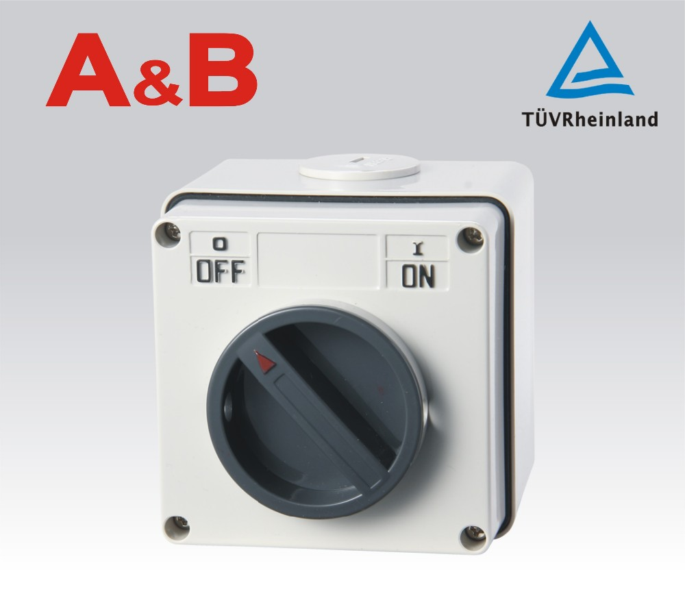Australian Standard waterproof electric Isolating switch,the best service and China factory Rotary isolating switch*