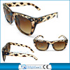 Fashion design Animal Print sunglasses with front rivet decorate(BSP1052)