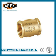 APEX Brass Female Threaded Equal Straight Socket Nipple Coupling Fitting