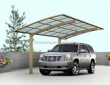 2016 Metal Aluminum Frame Single DIY Villa Carport with UV Coated and Polycarbonate Sheet