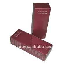 cosmetic carton box with blind embossed logo