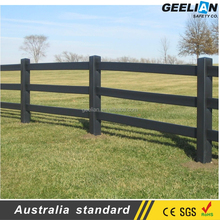 Strong Quality Inspection Black Plastic Vinyl PVC Horse Fence