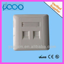 Z97 two port dustproof rj45 keystone dual port faceplate