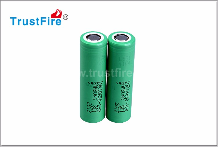 Original Rechargeable 3.7V 2500mah 18650 25R li ion battery for e cig