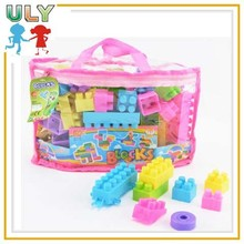 Cheap plastic puzzle building toys for boys large toy plastic building blocks for kids