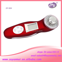 high quality home use mini electronic galvanic LED display vibration micro current personal facial massager machine