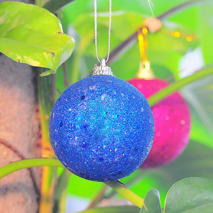 Snowflake Plated christmas Tree decorations decorating ball sdq027
