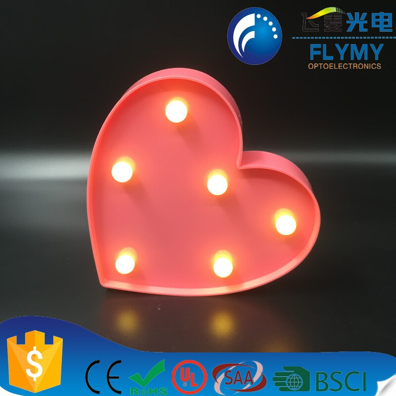 Birthday <strong>gifts</strong> led plastic marquee light-love light up battery operated great for nurseries or kids to home decoration