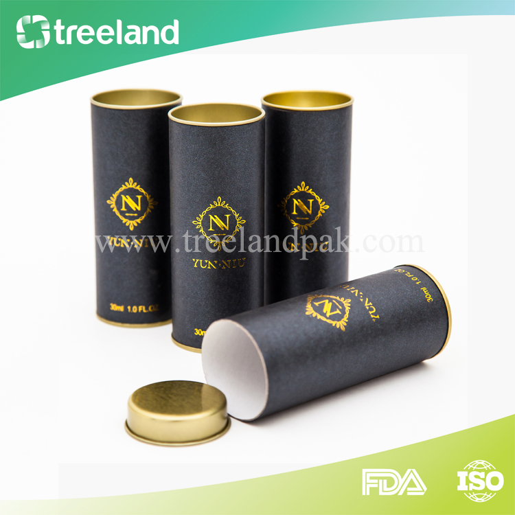 Fancy 30ml Essential Oil Bottle Cylinder Printed Paper Tube Boxes
